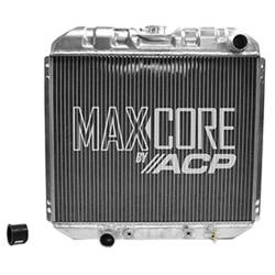 All Classic Parts - 69 - 70 Mustang V8 302/351 without AC (6 Cyl 250) Aluminum MaxCore Radiator (OE Style2 Row Performance)