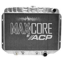 All Classic Parts - 68 - 69 Mustang V8 289/302/351 with A/C Aluminum MaxCore Radiator (OE Style 2 Row Performance)