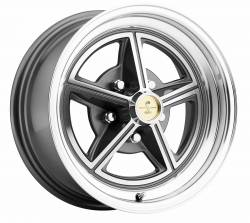 Legendary Wheel Co. - 65 - 73 Mustang 15X7 Legendary Magstar Alloy Wheel, Charcoal Gray