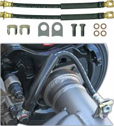 Lines & Hoses - Disc Hoses - Currie Enterprises | Mustang Parts - 1964 - 1973 Mustang Caliper Flex Hose Kit for Explore Rear Disc Brake Kit
