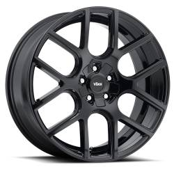 "Wheels - 20 Inch - Voxx - 05 - Current Mustang Lago Gloss Black Wheel 20 X 9.5 , 6.80"" bs, Set of 4"