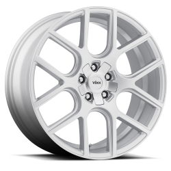 """Wheels - 20 Inch - Voxx - 05 - Current Mustang Lago Silver Wheel 20 X 9.5 , 6.80"""" bs, Set of 4"""