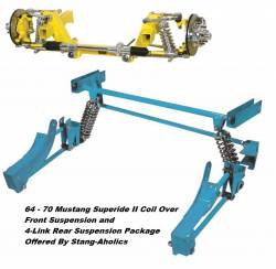 Heidts - 65 - 70 Mustang Superide II Coil Over Suspension and 4-Link Rear Suspension Package