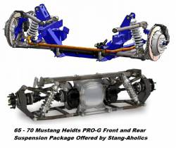 Heidts - 65 - 70 Mustang Heidts PRO-G Front and Rear Suspension Package
