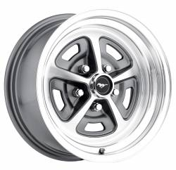 Legendary Wheel Co. - 65 - 73 Mustang 15 X 7 Magnum Alloy Wheel, Charcoal / Machined Finish