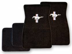 Carpet & Related - Floor Mat Sets - Scott Drake - 1964 - 1973 Mustang  Embroidered Carpet Floor Mats (Black)