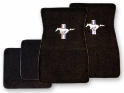 Carpet & Related - Floor Mat Sets - Scott Drake - 1964 - 1973 Mustang  Embroidered Carpet Floor Mats (Black)
