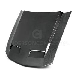 Carbon Fiber - Hood & Related - Anderson Composites Mustang Parts - 2005 - 2009 MUSTANG RAM AIR Carbon Fiber Hood