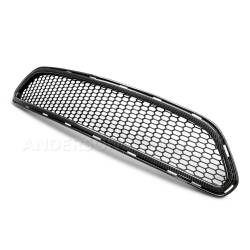 Body - Grilles - Anderson Composites Mustang Parts - 2015 - 2016 MUSTANG TYPE-AE Carbon Fiber Front Upper Grille