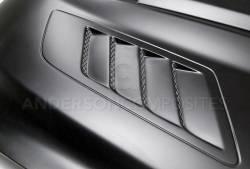 Anderson Composites Mustang Parts - 2015 - 2016 MUSTANG RAM AIR Fiberglass Hood - Image 4