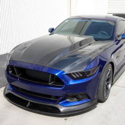 Carbon Fiber - Hood & Related - Anderson Composites Mustang Parts - 2015 - 2016 MUSTANG 3 INCH COWL Carbon Fiber Hood