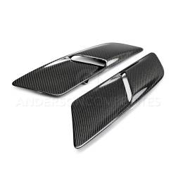 Anderson Composites Mustang Parts - 2015 - 2016 MUSTANG GT TYPE-OE Carbon Fiber Hood Vents - Image 2