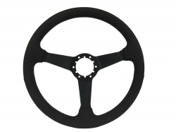 "Steering Wheel & Related - Steering Wheels - Stang-Aholics - 84 - 89 Mustang 14"" Volante 6 Bolt STEERING WHEEL KIT, Suede, Solid Spoke"