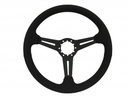 "Steering Wheel & Related - Steering Wheels - Stang-Aholics - 84 - 89 Mustang 14"" Volante 6 Bolt STEERING WEEEL KIT, Suede, Slotted Spoke"