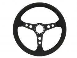 "Stang-Aholics - 84 - 89 Mustang 14"" Volante 6 Bolt STEERING WHEEL KIT, Suede, 3 Hole Spoke"