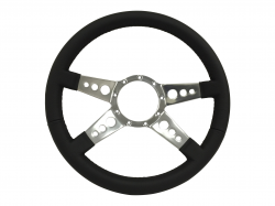 "Stang-Aholics - 64 - 73 Mustang 14"" Volante 9 Bolt STEERING WHEEL KIT, GT, 4 Spoke, Holes"