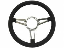 "Stang-Aholics - 64 - 73 Mustang 14"" Volante 9 Bolt STEERING WHEEL KIT, BLK Leather, Tear Drop Spoke"