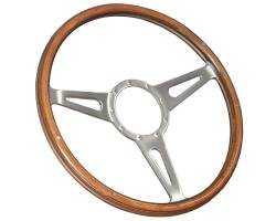 "Stang-Aholics - 64 - 73 Mustang 15"" Volante 9 Bolt STEERING WHEEL KIT, Wood Shelby Style"
