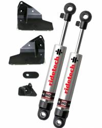 RideTech - 1964 - 1966 Mustang StreetGrip Staggered Rear Adjustable MonoTube Shocks - Pair