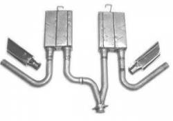 Exhaust - Mufflers - SpinTech Performance Mufflers - 94 - 98 V6 MUSTANG SpinTech 2 1/4in Dual Side Exit System
