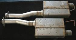 Exhaust - Mufflers - SpinTech Performance Mufflers - 86 -95 MustangSpinTech -2 1/2in Cat Back Kit