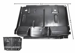 Floor Pan - Seat Platforms - Dynacorn - 71 - 73 Mustang Coupe and Fastback Dynacorn Right Seat Platform