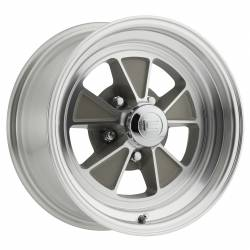 Wheels - 15 Inch - Scott Drake - 64 - 73 Mustang 15 x 7 Legendary GT5 Alloy Wheel- Clear/Machined