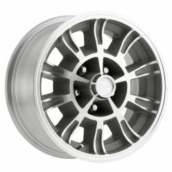 Wheels - 15 Inch - Scott Drake - 64 - 73 Mustang 15 x 7 Legendary GT6 Wheel- Clear Coat/Machined