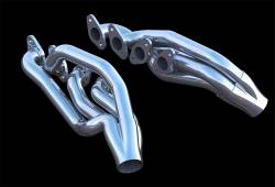 Stang-Aholics - 65 - 70 Mustang Coyote Swap Headers, Stainless Steel, Ceramic Silver Finish