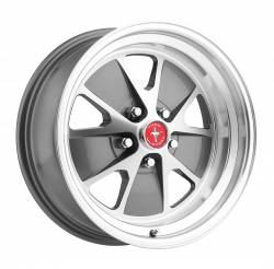 Wheels - 17 Inch - Scott Drake - 64 - 73 Mustang 17 x 8 Styled Alloy Wheel - Charcoal / Machined
