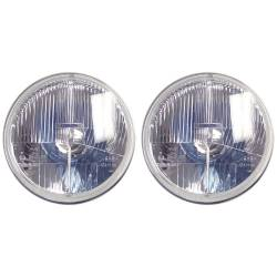 "Electrical & Lighting - Headlights - Delta Lighting Technology - 65 - 68 and 70 - 73 Mustang DOT 7"" Xenon Headlight Kit, Pair"