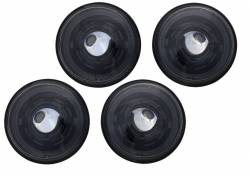 "Electrical & Lighting - Headlights - Stang-Aholics - 69 Classic Mustang 5.75"" Round BLACK Projector Headlight Kit"