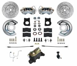 Disc Brakes - Brake Kits - Scott Drake - 1964 - 1966 Mustang Manual Front Disc Brake Conversion Kit w/ Drilled and Slotted Rotors (V8)