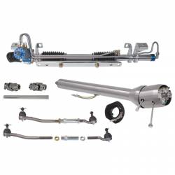 Steering - Steering Columns - Total Control Products - 64 - 70 Mustang TCP POWER Rack And Pinion Kit, With Tilt Steering Column