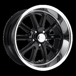 Wheels - 18 Inch - US Mag Wheels - 65 - 73 Mustang Rambler 1 Piece Gloss Black w/ Diamond Cut Lip 18x8 Wheel