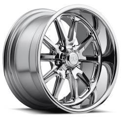 Wheels - 18 Inch - US Mag Wheels - 65 - 73 Mustang Rambler 1 Piece Chrome 18x9.5 Wheel