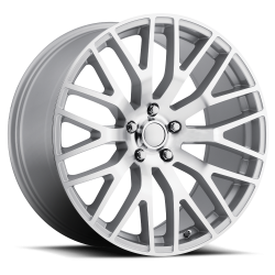 Voxx - 05 - Current Silver Machine Face Mustang Performance Wheel, 19 x 9.5, 7.33 bs, 53 offset