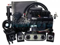 Old Air Products - 65 - 66 Mustang Hurricane A/C System for 6 cylinder w/ alternator electronic controls