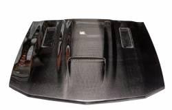 Carbon Fiber - Hood & Related - TruFiber - 05 - 09 Mustang Carbon Fiber Ram Air Hood (V6 / GT)