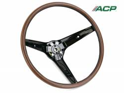 All Classic Parts - 1969 Mustang Deluxe Rim Blow Steering Wheel, Pre-Installed Horn Switch