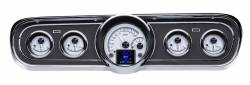 Gauges - Aftermarket Gauges - Dakota Digital Gauges & Accessories - 65 - 66 Mustang HDX Dakota Digital Instruments, Silver Alloy Gauge Face