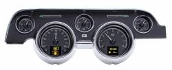 Gauges - Aftermarket Gauges - Dakota Digital Gauges & Accessories - 67 - 68 Mustang HDX Dakota Digital Instruments, Black Alloy Gauge Face