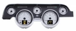 Dakota Digital Gauges & Accessories - 67 - 68 Mustang HDX Dakota Digital Instruments, Silver Alloy Gauge Face