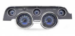 Dakota Digital Gauges & Accessories - 67 - 68 Mustang VHX Instruments, Carbon Fiber Gauge Face