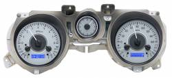 Gauges - Aftermarket Gauges - Dakota Digital Gauges & Accessories - 71 - 73 Mustang VHX Instruments, Silver Alloy Gauge Face