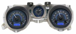 Gauges - Aftermarket Gauges - Dakota Digital Gauges & Accessories - 71 - 73 Mustang VHX Instruments, Carbon Fiber Look Gauge Face