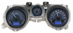 Dakota Digital Gauges & Accessories - 71 - 73 Mustang VHX Instruments, Carbon Fiber Look Gauge Face