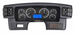 1979-1993 Mustang Parts - 1979-1993 New Products - Dakota Digital Gauges & Accessories - 87 - 89 Mustang VHX Instruments, Black Alloy Gauge Face