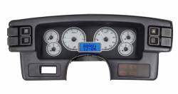 1979-1993 Mustang Parts - 1979-1993 New Products - Dakota Digital Gauges & Accessories - 87 - 89 Mustang VHX Instruments, Silver Alloy Gauge Face