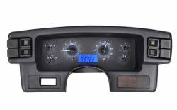 1979-1993 Mustang Parts - 1979-1993 New Products - Dakota Digital Gauges & Accessories - 87 - 89 Mustang VHX Instruments, Carbon Fiber Look Gauge Face